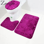 Shower Carpets Set Home Toilet Lid Cover Shower Room Rug Floor Mats - Neshaí Fashion & More