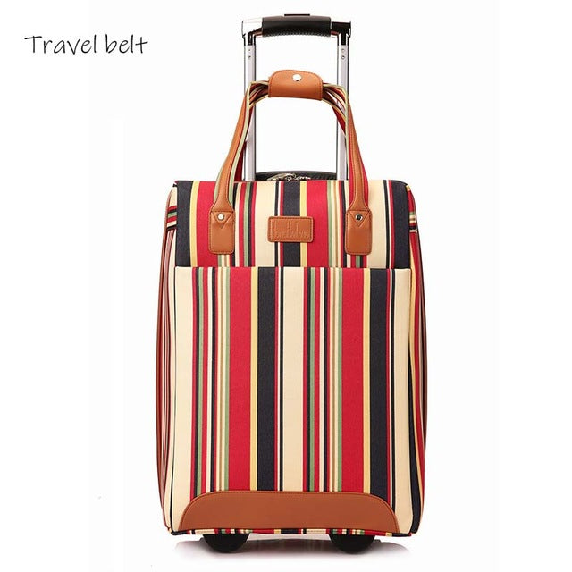 stripe Carry On Travel Bags
