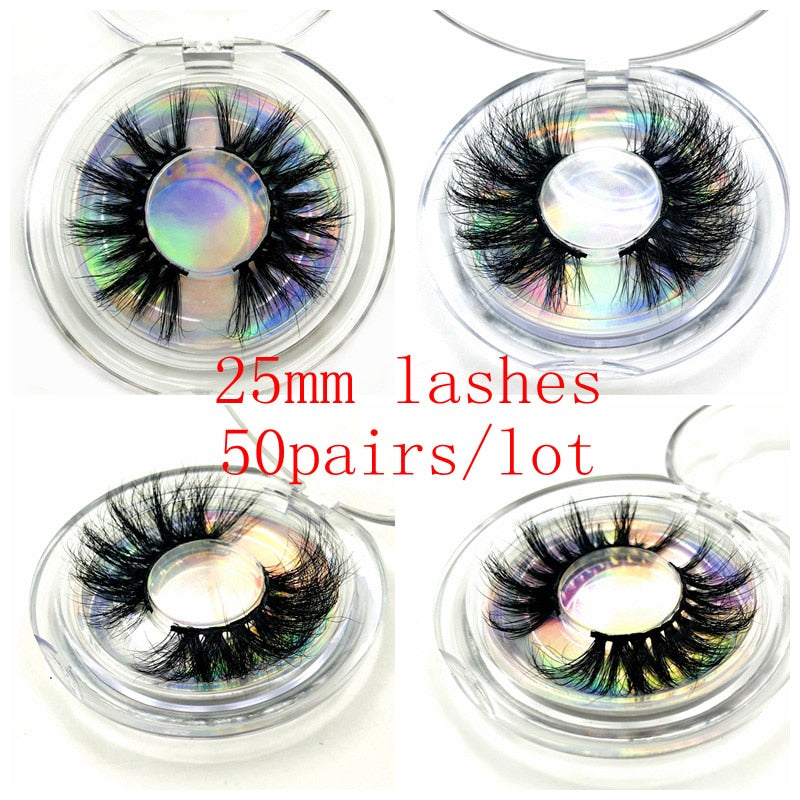 Wholesale 50 pairs eyelashes 3D Mink Lashes