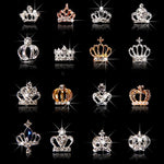 10pcs/Lot 3D Nail Art Jewelry Silver & Gold Crown Shape Nail Jewelry Shining Crystal Rhinestones Nail Jewelry Accessories ML723#