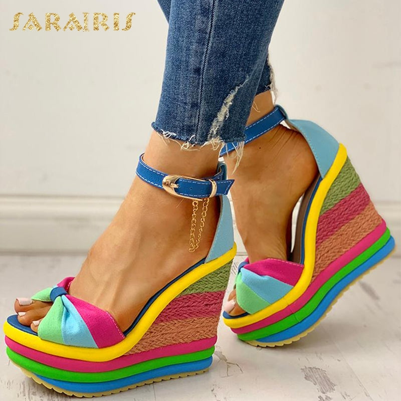colorful Leisure Women Wedges