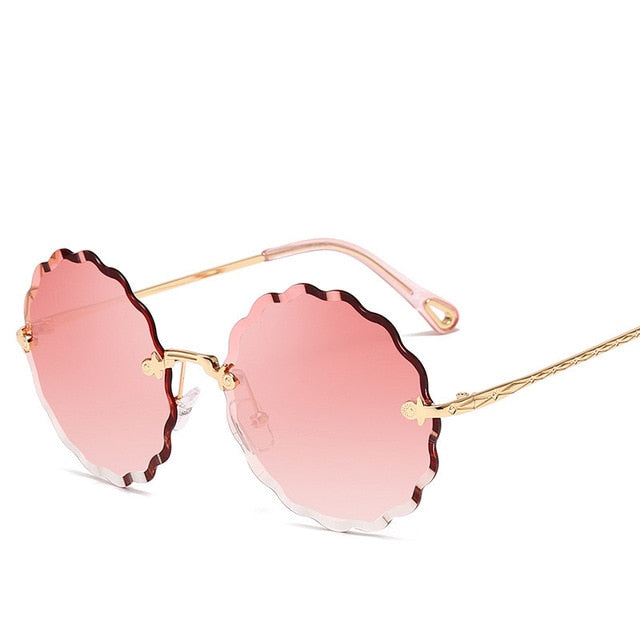 Flower Shaped Metal Rimless Lenses