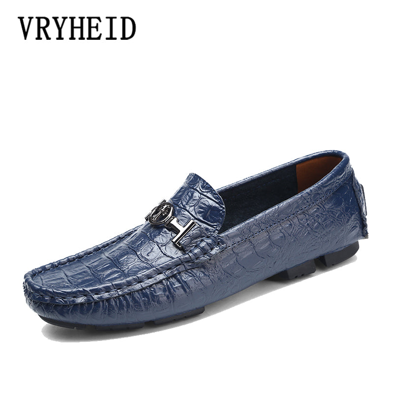 Leather Men Shoes Soft Moccasins Loafers Fashion Brand Men Flats Comfy Driving Shoes