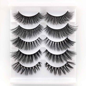 5 Pairs Mixed Styles 3D Mink Hair False Eyelashes