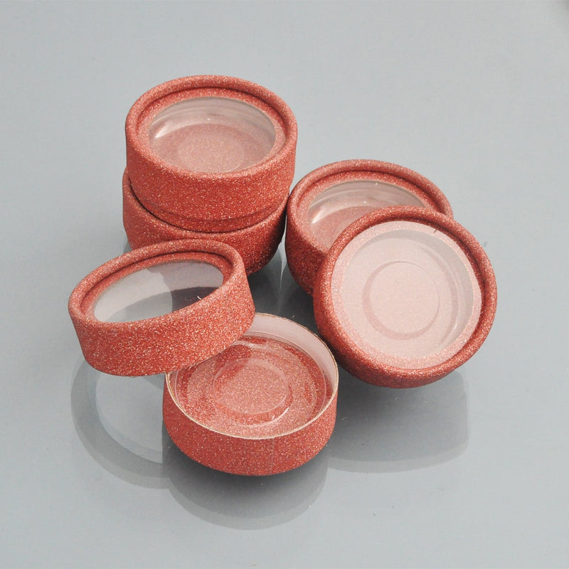 10pcs Wholesale Glitter Round  Case Empty