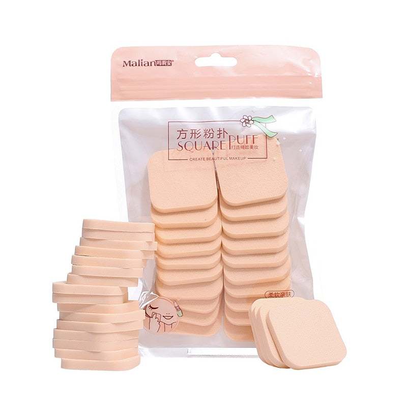 Durable 20pcs Wet And Dry Use Makeup Sponge Powder Puff