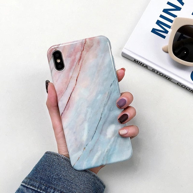 Marble Soft Silicone Case - Neshaí Fashion & More