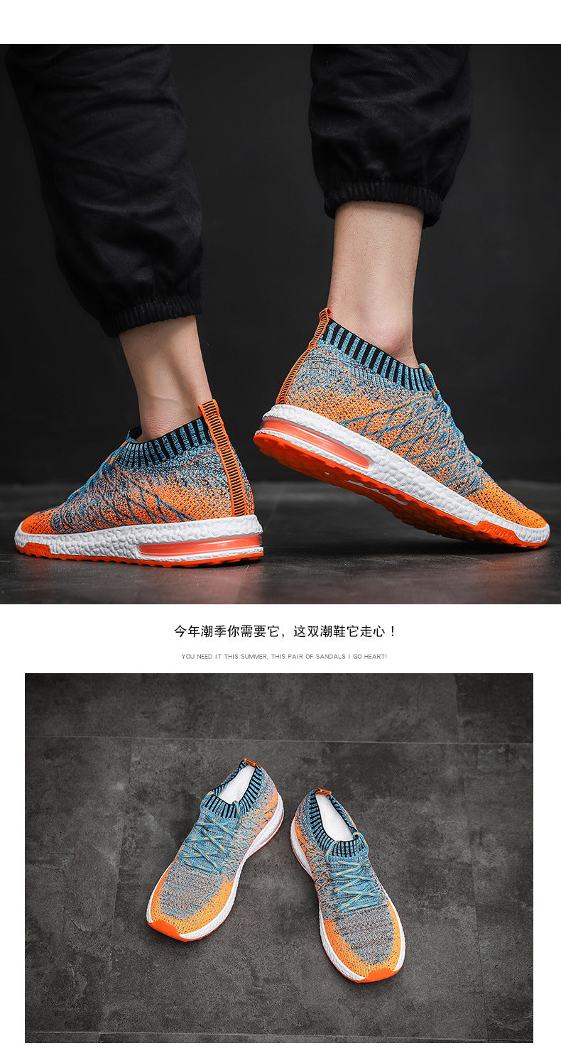 Orange Black Breathable Casual Shoes