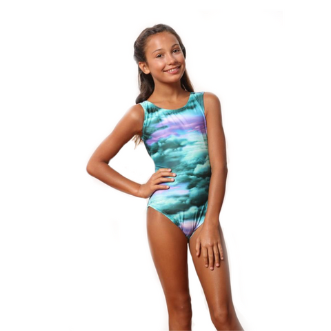 Head in the Clouds gymnastics leotard