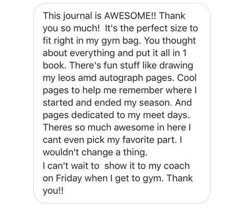 Gymnastics Mindset Meet Journal review