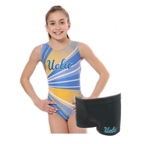 UCLA shorts and leotard