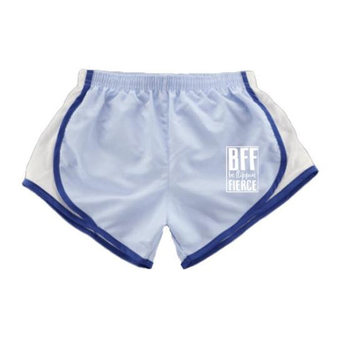 Athletic Shorts for Gymnasts - Carolina Blue