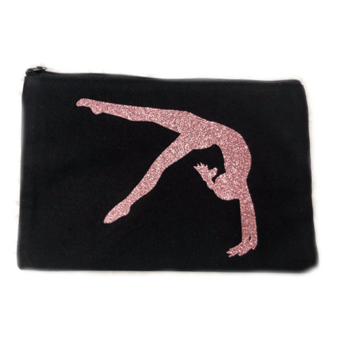 Gymnast Makeup Bag - Rose Gold Glitter