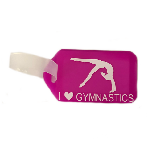 Gymnastics Bag Tag - Pink
