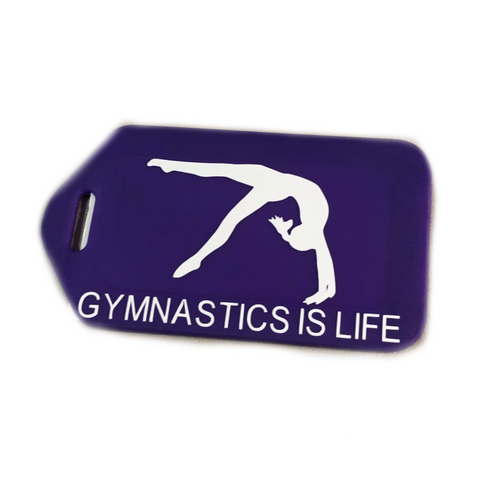 Gymnastics Bag Tag - Purple