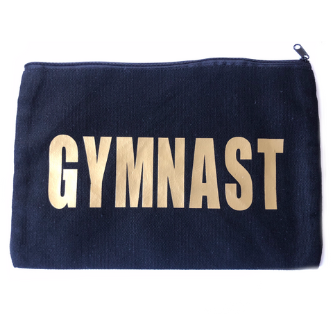 Gymnast Makeup Bag - Gold Metallic