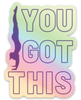 You Got This Holographic Gymnastics Sticker