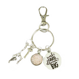 Gymnastics Zipper Pull - Work Hard Dream Big