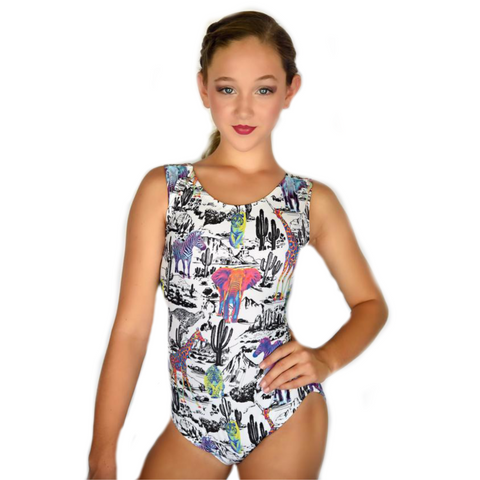 Take A Walk On The Wild Side Gymnastics Leotard