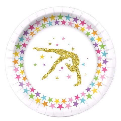 Gymnastics Birthday Party Supplies Pack (serves 8) - Rainbow Stars
