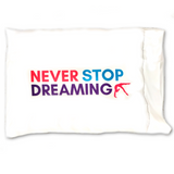 Never Stop Dreaming Gymnastics Pillowcase