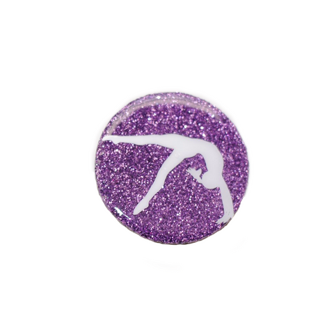 Glittery Gymnastics PopSocket - Purple