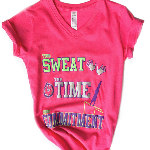 The Sweat, The Time, The Commitment Shirt - Pink