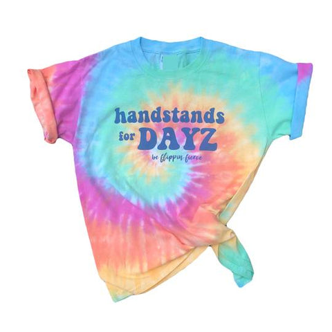Handstands For Dayz Tie-Dye Gymnastics T-Shirt