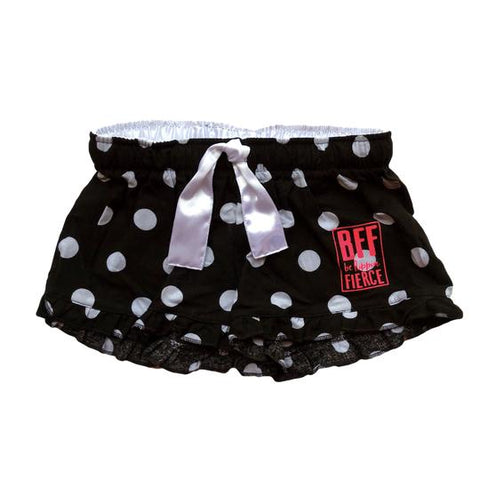 Gymnastics Lounge Shorts - Black/White Polka Dots