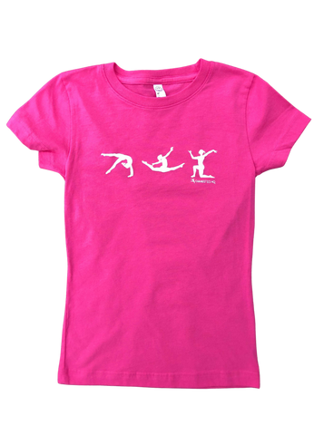 Pink Gymnastics Figure T-shirt