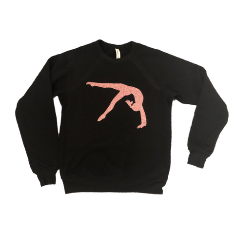 Rose Gold Back Handspring Gymnast Sweatshirt