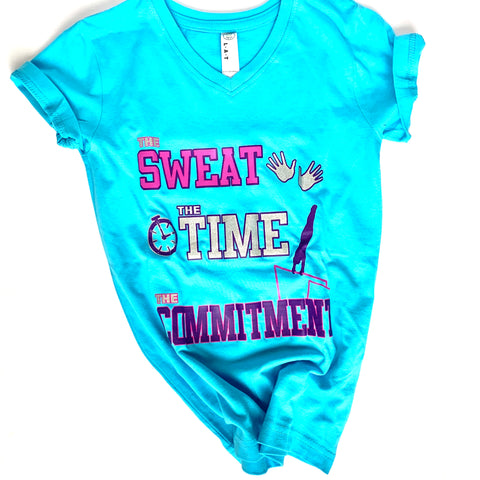 The Sweat The Time The Commitment Shirt - Aqua