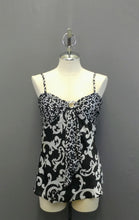 Load image into Gallery viewer, White House Black Market Black White Spaghetti Strap Victorian Print Cami 4