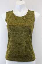 Load image into Gallery viewer, Impressions 2 Piece Women Shirt, Size Small, Green, polyester