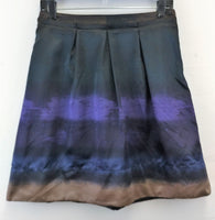 Mossimo Women Skirt, Size 2, blue, purple, brown, polyester