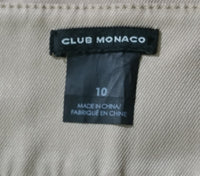 Club Monaco Women Skirt, Size 10, Beige, cotton, polyester, spandex