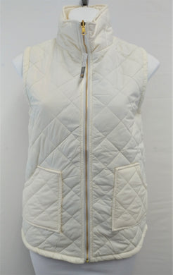 New Reversible Woman Jacket, Size Small, cream, gray