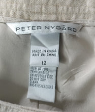 Load image into Gallery viewer, Peter Nygard Women Skirt, Size 12, beige, gold buttons, linen, cotton