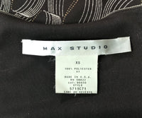 Max Studio Women Shirt, Size X-Small, brown,  polyester