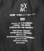 New York and Company Women Shirt, Size X-Small, black, white, polyester