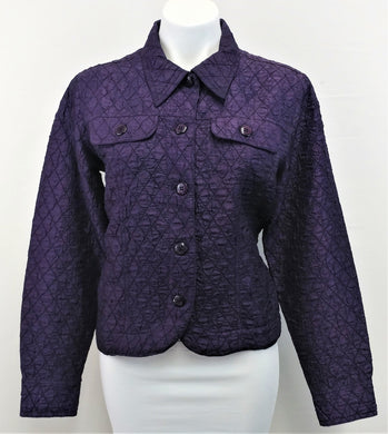 Coldwater Creek Women Blazer, Size Medium, purple, polyester, rayon