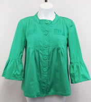 Last Kiss Women Blazer, Size Large, green, cotton, spandex