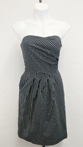 Outback Red Women Dress, Size 2, black, white checkered, cotton, spandex