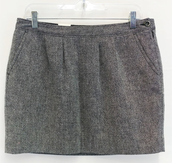New Old Navy Women Skirt, Size 10, blue, white, tweed, wool, polyester