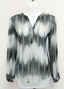 Kim Rogers Women Shirt, Size Small, black, gray, polyester