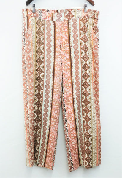 New Spense Women Pants, Size X-Large, pink, brown, rayon