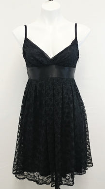 Necessary Objects Women Dress, Size X-Small, black lace, polyester