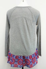 Load image into Gallery viewer, Red Camel Women Shirt, Size Small, gray, blue, red, rayon, polyester