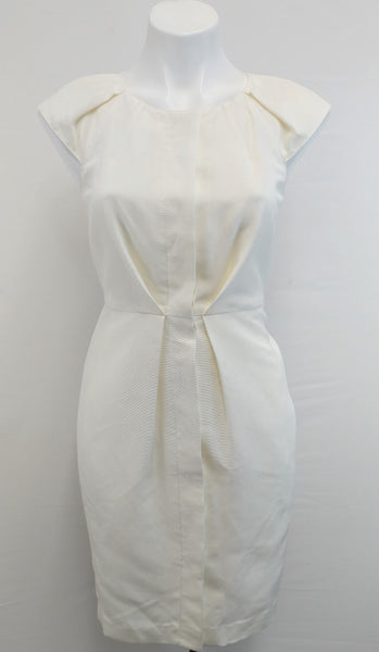 New Talbots Women Dress, Size 4p, cream, polyester