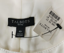 Load image into Gallery viewer, New Talbots Women Dress, Size 4p, cream, polyester